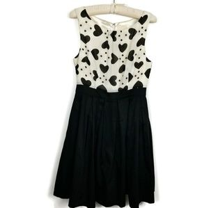 ModCloth Heart Bodice Fit & Flare Dress Medium
